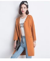 bamboo fund - Ladies sweater thickening of new fund of autumn winters long cardigan sweater han edition loose big yards in the coat
