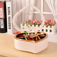 antique silk curtains - Heart dance music box music box rotating romantic fashion creative birthday gift