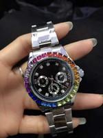 al por mayor espectáculos mm-Decoración de lujo 3 pequeños diamantes relogio masculino mujeres simulación reloj de deportes ver la fecha del reloj de cuarzo hombres de negocios de los hombres