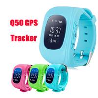 Enfants SmartWatchs Q50 GPS Tracker pour bébé Kid Smart Watch SOS Safe Appelez Location Finder Localisateur Trackers pour Enfants Enfants avec écran LCD