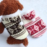 Wholesale New Dog Apparel Heart Christmas Big Dot Flower Dogs Santa Claus Apparel Gift AA SO