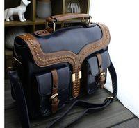 Wholesale Steampunk british style women bags Steam Punk Retro Handbags lady shoulder bag working briefcase
