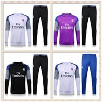Wholesale Top Real Madrid tracksuits RONALDO JAMES BALE MODERIC best quality long sleeve tracksuit training real madrid jacket kit