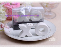 Wholesale 30 Sets XO Hugs Kisses Salt Pepper Shaker Wedding Party Favour Bomboniere Gift Ceramic Salt and Pepper Shakers Free Ship