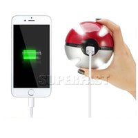 Wholesale Po ke Ball Power Bank Magic Ball Emergency Charger for iPhone7 mAh External Battery Charger for Galaxy with Retail Package