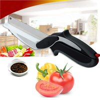 Wholesale High tech Cutter Steel Kitchen Scissors and toolswith Sharp Knife Blade Cutting Board Kid Food Cutter for Meat Vegetable with spri