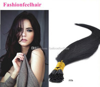 beautiful hair tips - Stick Human Hair quot quot Keratin Hair Extensions Indian Remy Human I Tip Hair For Beautiful Ladies