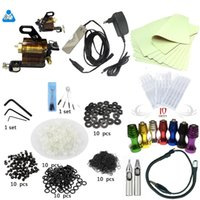 Wholesale Entry tattoo kit beginners Rotary tattoo machine gun kit complete tattoo kit tattoo power supply needle inks