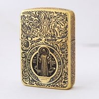 Wholesale zip pure copper lighters Oil machine armor The father Constantine gifts for friends Cigarette lighter