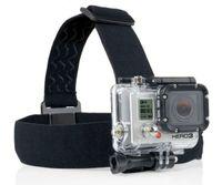 achat en gros de tête pour la caméra-Bandoulière GoPro Elastico Regolabile Mont Cintura Con antiscivolo pour Gopro Hero 4 3 Xiaomi yi Sport Action Camera Accessori