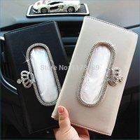 Wholesale decorative tissue boxes sun visor Hanging style car tissue holder cute tissue box dispenser J16069