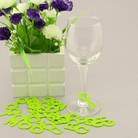 Wholesale alphabet wine glasses drinking tag set silica gel glass markers bottle drink label Silicone markers for party ic872201