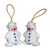 Wholesale New Wireless Infant Baby Alarm Sleep Cry Detector Monitor Safe Call Baby Care Watcher Reminder Lovely Snowman Design pc