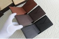 Wholesale LV new fashion PU Leather mens and womens wallets purse card Holders color for pick