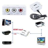 Wholesale Cheap Standard HDMI to RCA AV P Video Adapter HDMI2AV Mini HDMI TO AV Converter Signal Mini HD for TV