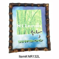 bamboo photo frames - bamboo root photo frame for x10 inch