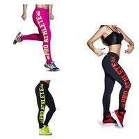 Wholesale Women Outdoor Sports Side Skull Letter Printing Pencil Pants Yoga Running Fitness Leggings