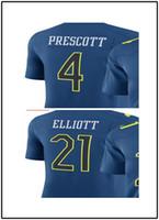 Wholesale 2017 best jerseys Men s dak prescott Ezekiel Elliot jerseys size
