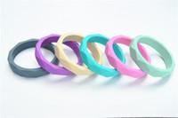 baby jewelry box - BPA FREE Silicone bangle bracelet Baby Teething Jewelry