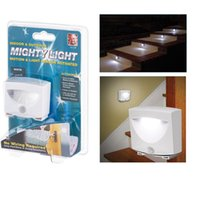 mighty light indoor - 3 LED w Mighty Light Wireless Motion Sensor Activated LED Night Light Indoor Outdoor Lamp For Stairs Corridor Closet Hallway
