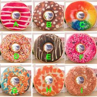 Wholesale Cushions Cover Cheap - Cheap Doughnut Hamburger Cushion Covers Pillow Case Decorative Throw Pillows Covers Christmas Gifts 13 Colors Stock! DHL Free Shipping
