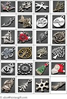 Wholesale 20styles Antique silver key ring personalized butterfly initial keychain custom keychain charm keychain
