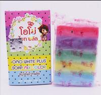 Wholesale Gluta Whitening Soap rainbow soap OMO White Mix Fruits Color Alpha Arbutin Anti Dark Spot for bath body