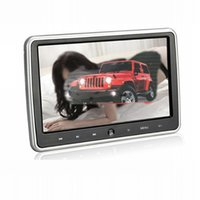 Wholesale 10 inch universal Car DVD player for clip on headrest with controller dvd and game function black