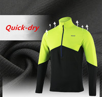 Wholesale New Arrival Men s Cycling Jersey Long Sleeve Running Jersey Shirt Dry Fit Breathable Blue Long Mountain Bike Bicycle MTB Jerseys