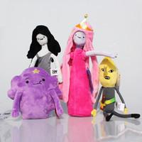 venda por atacado tempo de aventura espacial irregular princesa-Atacado- 4Pcs / Lot Aventura Tempo Plush Bonnibel Bubblegum Lemongrab Marceline Lumpy Espaço Princesa Plush Toy Dolls Stuffed Soft 15 ~ 18 centímetros
