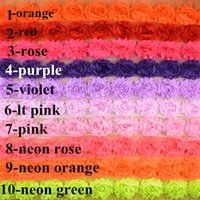 accessories hair trim - yards Color Inch Newest Shabby Chiffon Frayed Rose Flowers Trim By The Yard DIY Garment Hair Accessories HB001