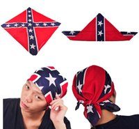 Wholesale Civil War Flag Print Bandanas CM Cotton Confederate Rebel Flag Headbands Fashion Hiphop Headbands New Arrival