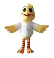 big chicken - Custom made Big Mouth Chicken cartoon Mascot costumes for Halloween party activity Fancy dress adult size LLFA