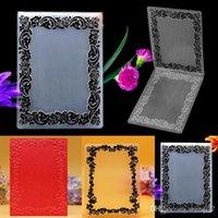 Wholesale Flower Frame Plastic Embossing Folder For Scrapbook DIY Album Card Template x10cm