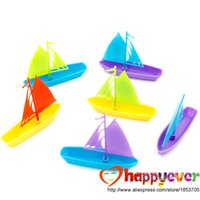 beach bag favors - Multicolor Sailboats Boat toy for kids Beach Sea Party Decoration Favors Supplies Goodie Bag Pinata Filler