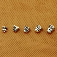 bead caps sterling silver - Beadia Antique Sterling Silver Beads Caps Hulu Head Metal Bead Caps Flower Caps For DIY Necklace amp Bracelet Jewelry