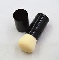 1pcs beauty packages - 30pcs CC Les Beiges RETRACTABLE KABUKI BRUSH Box Package Beauty Cosmetics Makeup Brushes Blender A126
