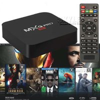 Wholesale MXQ PRO Android TV Box Amlogic S905 Chipset Kodi Full Loaded Android Google Streaming Media Players Wifi Wireless Box Retail Box