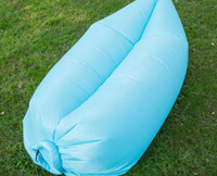 Wholesale 2017 Outdoor Inflatable Air Sleeping Bag Hangout Lounger Air Boat Air Lazy Sofa Camping Sleeping Bed Fast Inflatable New