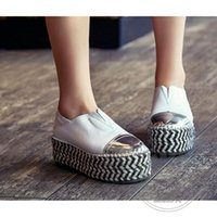 Lace-Up artwork shoes - Espadrilles Office Lady Straw Multi Colored Wide Foot Shoes Soft Leather China Shoes Pu Plain Artwork Two Wear Shoes Woman