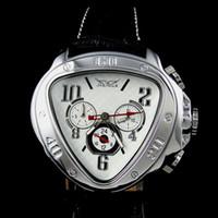 Precio de Esfera blanca para hombre de los relojes automáticos-Nuevo dial arrvial del dial de la manera del Mens Reloj AUTOMÁTICO MECÁNICO del triángulo único