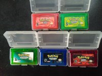 Wholesale Poke English language gameboy cartridges poke gba games fire red ruby sapphire leaf green emerald for Christmas gift toy