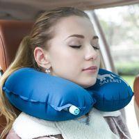 Wholesale New Inflatable U Soft Flight Travel Car Head Neck Rest Compact Travel Flight Car Pillow Inflatable Pillow Neck U Rest Air Cushion