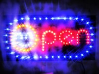 Wholesale shiny led open billboard super brightly Boards Neon LED quot OPEN quot Business Sign with a Chain x Inch for shop bar restaurant