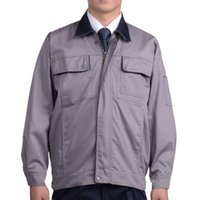 Wholesale Lstest Version Work Uniform Suit Vehicle Repair Overall Superior Fabric Anti dust Five Size Cotton Medium Grey And Navy Collar
