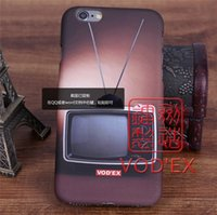 apple phone tv - Vodex cases nostalgic antique black and white TV Apple water paste mobile phone shell embossed D feel iPhone7 p p
