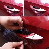 9 x 8CM automotive protection film - 4Pcs Car Handle Protection Film Car Exterior Transparent Sticker Automotive CDE_00K