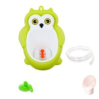 Wholesale Baby boy Urinal Pee Frog and Owl baby toilet training Colored Children Potty Baby Urine Groove PP hooked Urinal for kids