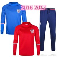 best russia - football jerseys Best quality Russia tracksuit chandal football Tracksuit training suit skinny pants Sportswear best quality