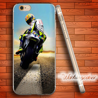 Wholesale Coque Valentino Rossi VR46 Soft Clear TPU Case for iPhone S Plus S SE C S Case Silicone Cover